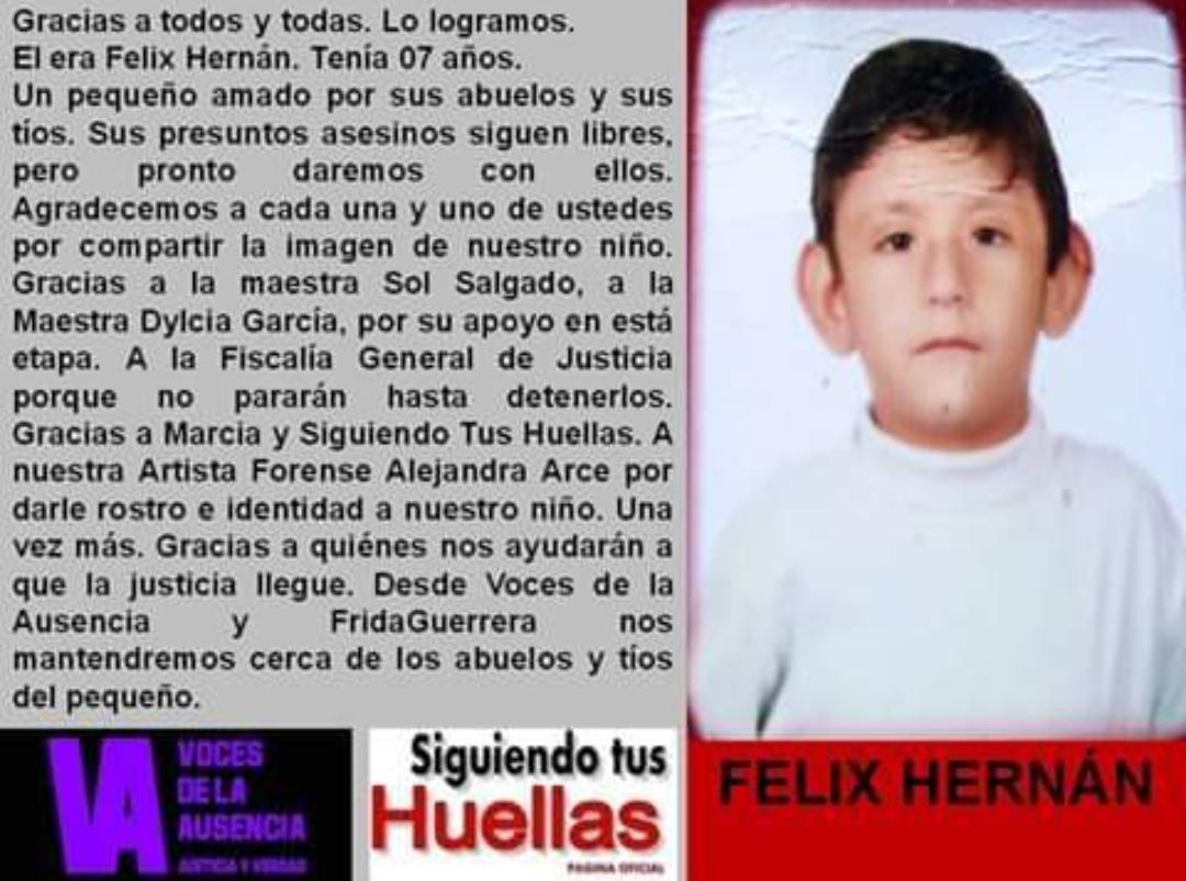 Amenazan a familiares del niño encontrado sin vida en Calimaya
