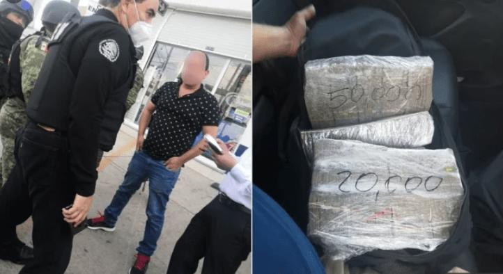 Detienen en Toluca a dos hombres en una Porsche con 220 mil dólares