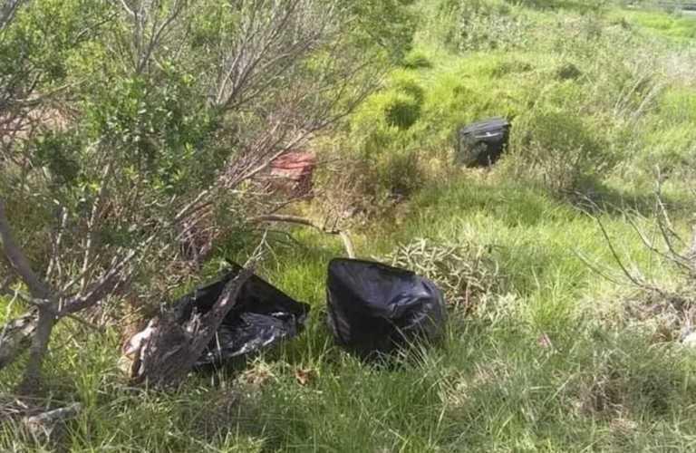 Encuentran varias bolsas con restos humanos en Naucalpan