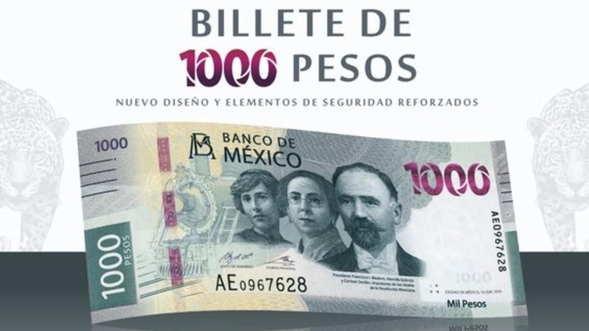 ¡Viva la revolución! Ya llegó el nuevo billete de mil pesos