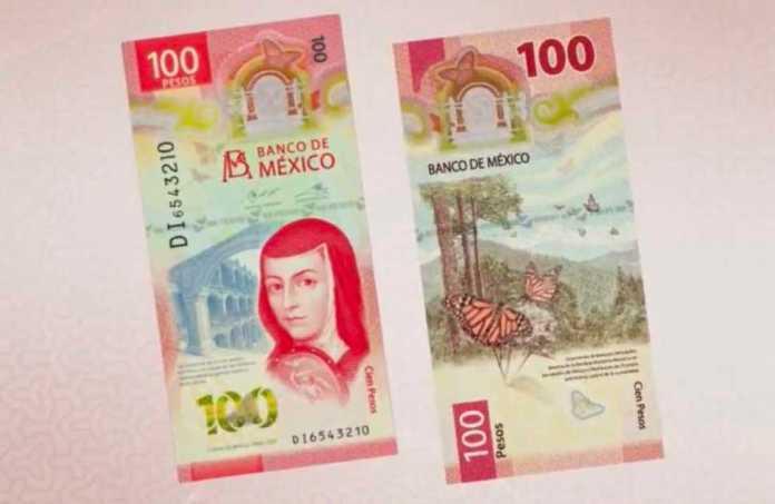 Vuelve Sor Juana Inés de la Cruz a la nueva imagen del billete de 100 pesos