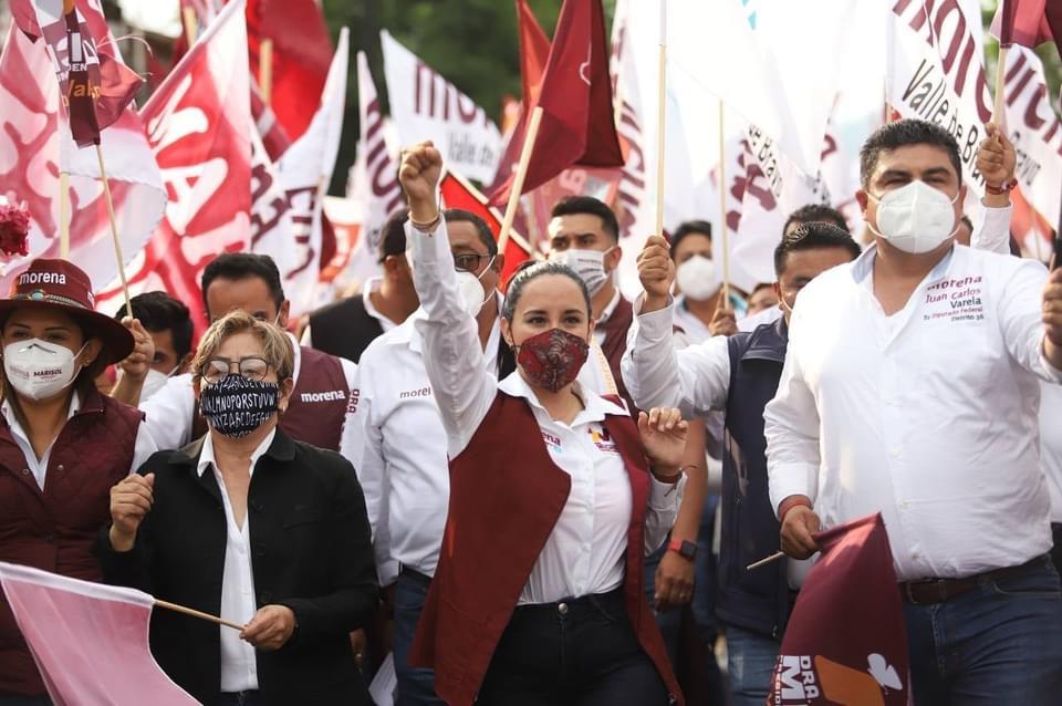 La gente en Valle de Bravo está convencida de que MORENA es la mejor opción para la elección del 6 de junio: Michelle Núñez