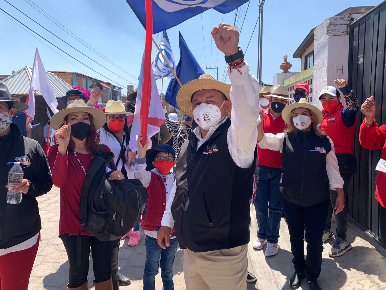 Zinacantepec no se equivocará de nuevo y votarán por nuestro proyecto: Manuel Vilchis