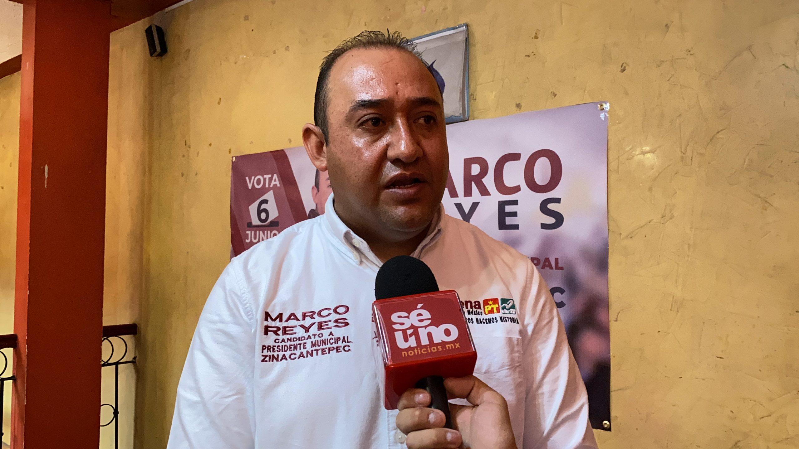 Presenta Marco Reyes cinco ejes de trabajo durante su candidatura