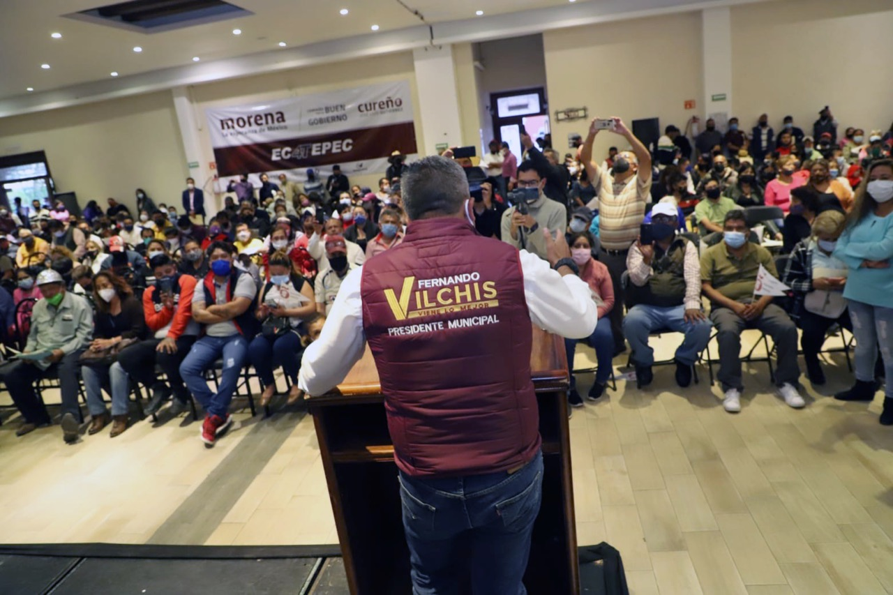 Ex alcalde y líderes de Morena cierran filas con Fernando Vilchis en Ecatepec