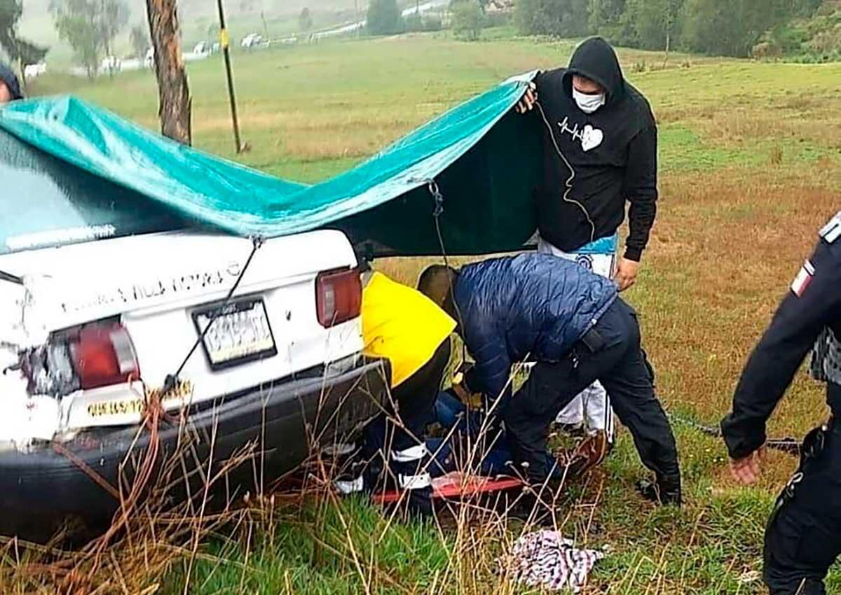 ¡Terrible! 6 heridos y un muerto tras accidente en la Toluca-Zitácuaro