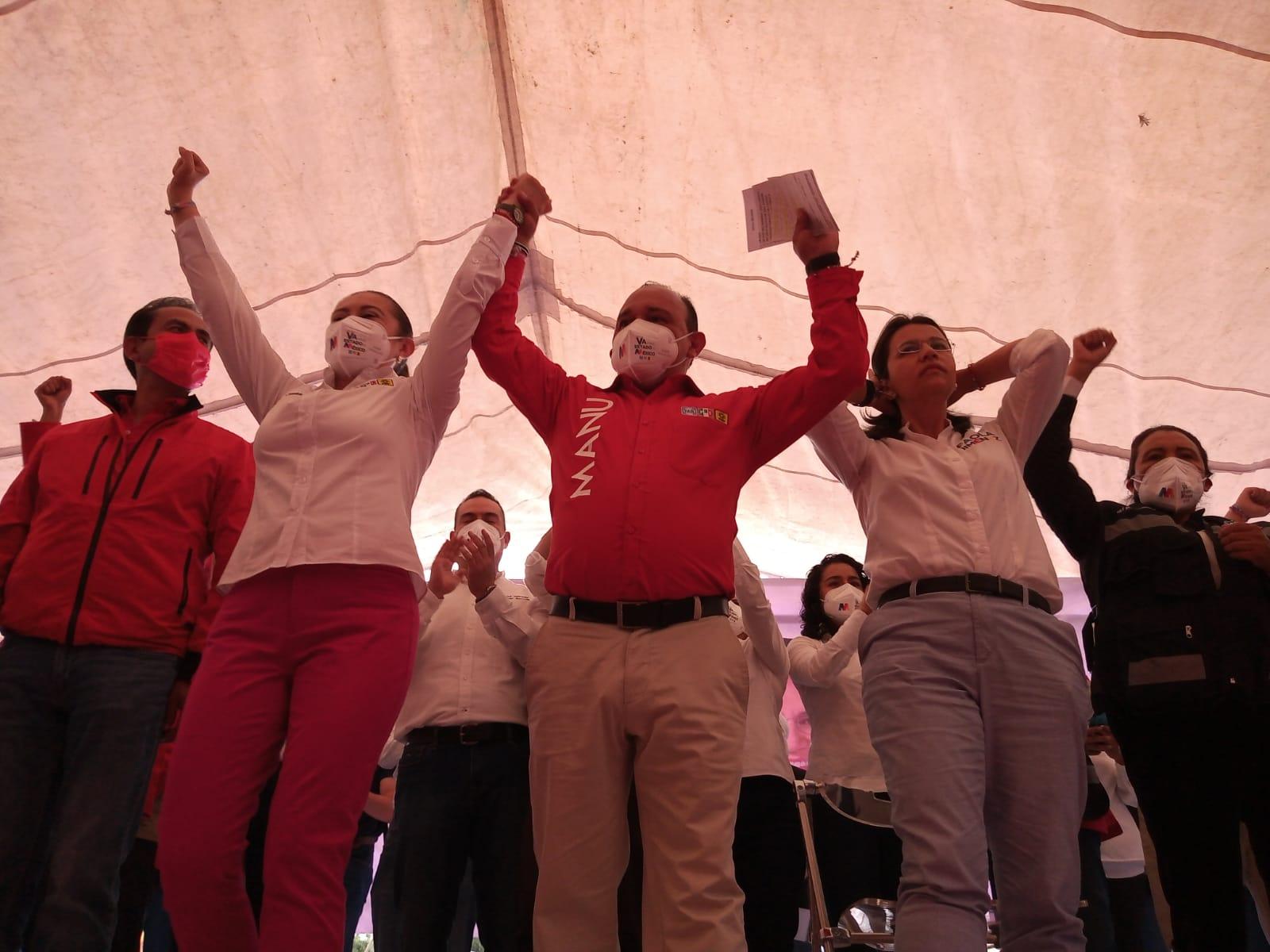Cierra campaña Manuel Vilchis y asegura el 3 de 3 este 6 de junio