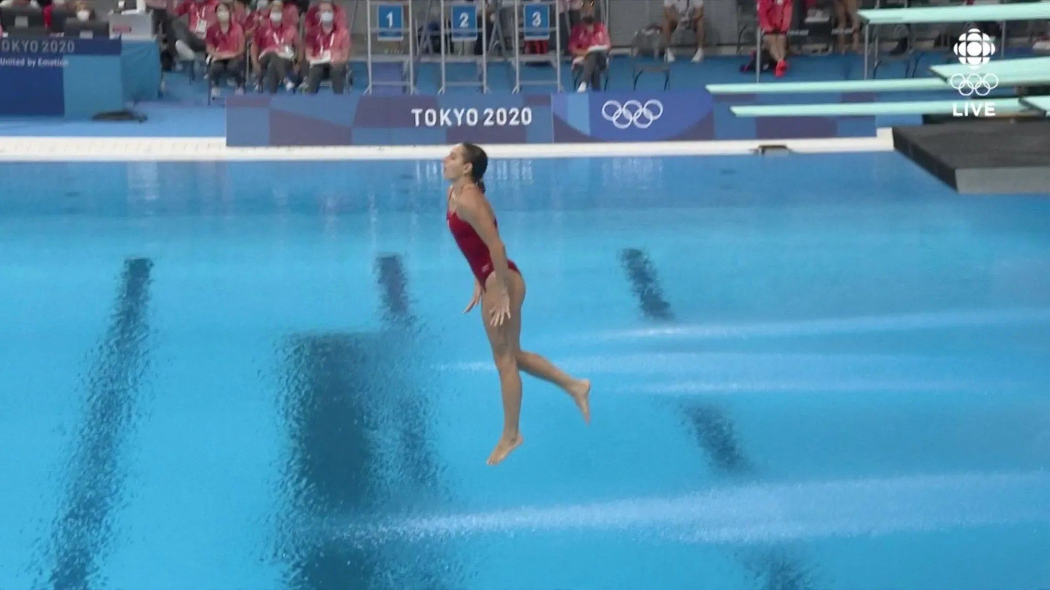 #VÍDEO ¡Clavado Olímpico Desastroso! Arantxa Chávez obtuvo una calificación de 0 al fallar un clavado