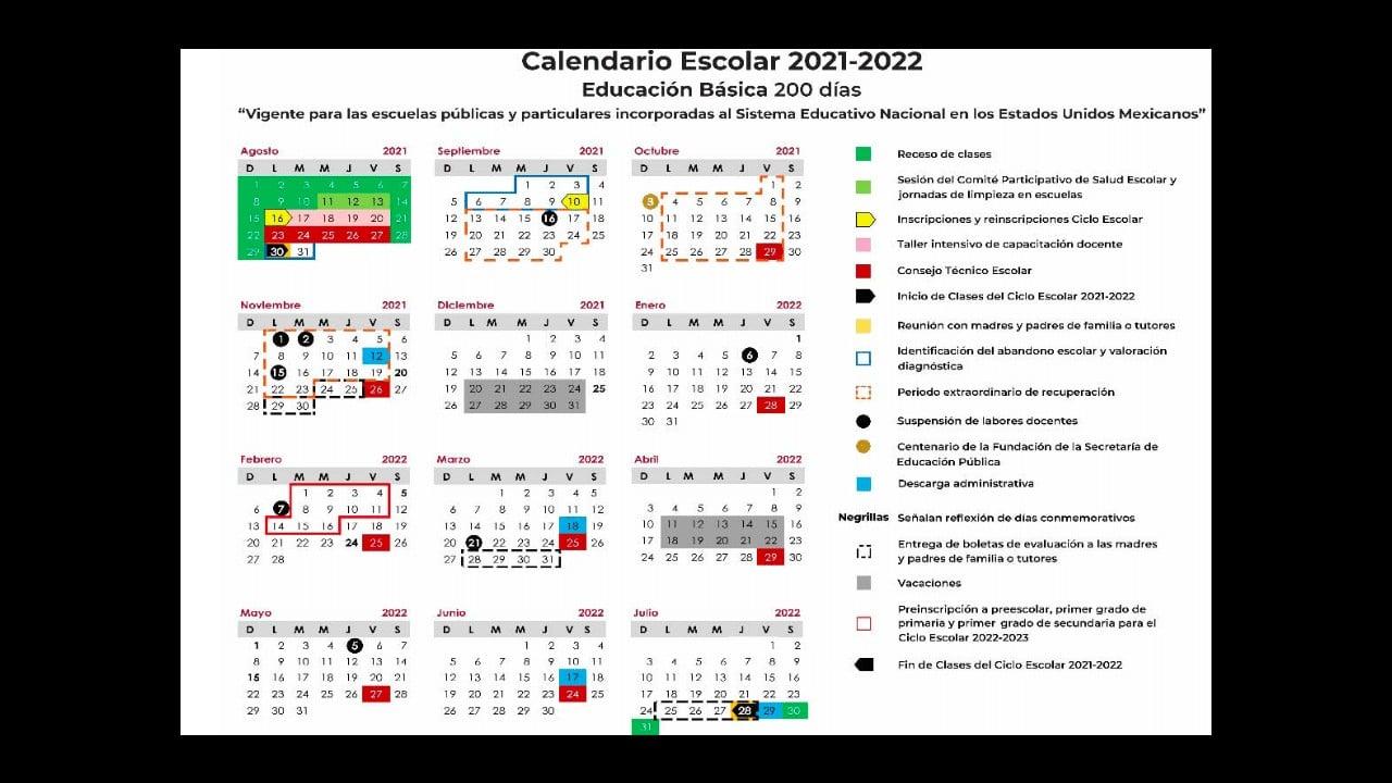Presentaron el calendario escolar 2021-2022 para que lo descargues