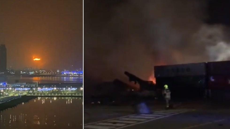¡Impresionante! Fuerte explosión en puerto de Jebel Ali, en Dubai