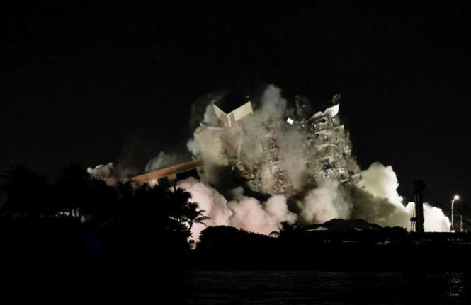 VIDEO: ¡Demolido totalmente! Los restos del complejo colapsado en Miami