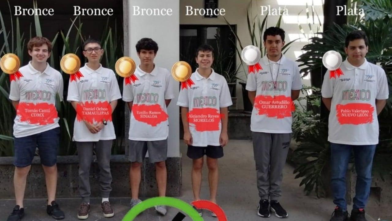 Se cuelgan estudiantes en Olimpiada de Matemáticas 6 medallas