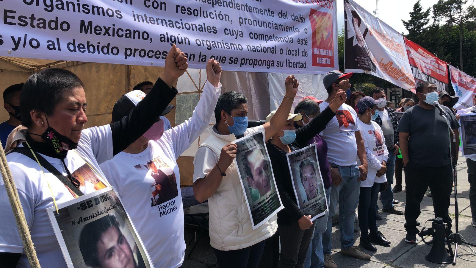 Piden liberación de presuntos inocentes con huelga de hambre