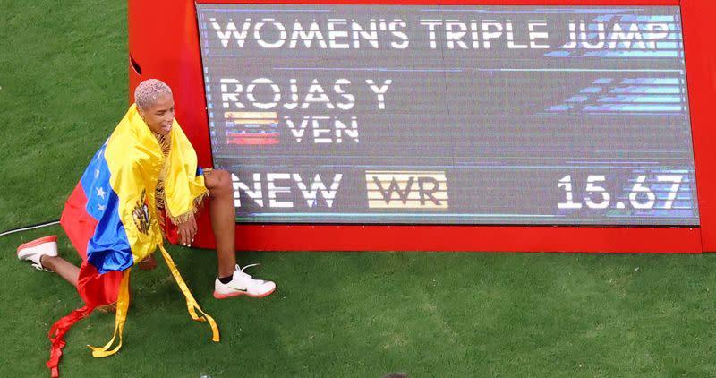 Venezolana pulveriza el récord del mundo en el triple salto femenino e los Juegos Olímpicos