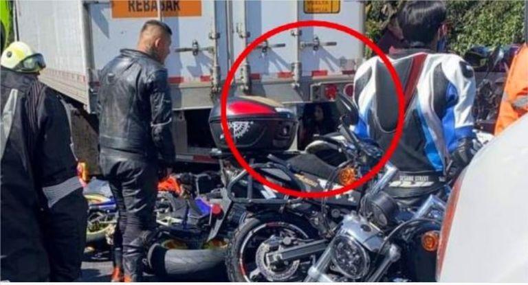 """Un """"fantasma"""" fue captado en el accidente de la México - Cuernavaca"""