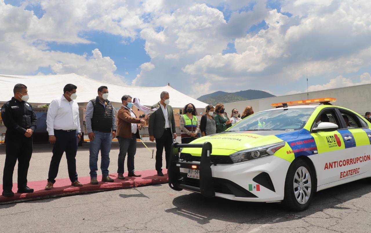 Ecatepec pone en operación patrullas con alta tecnología para combatir la corrupción