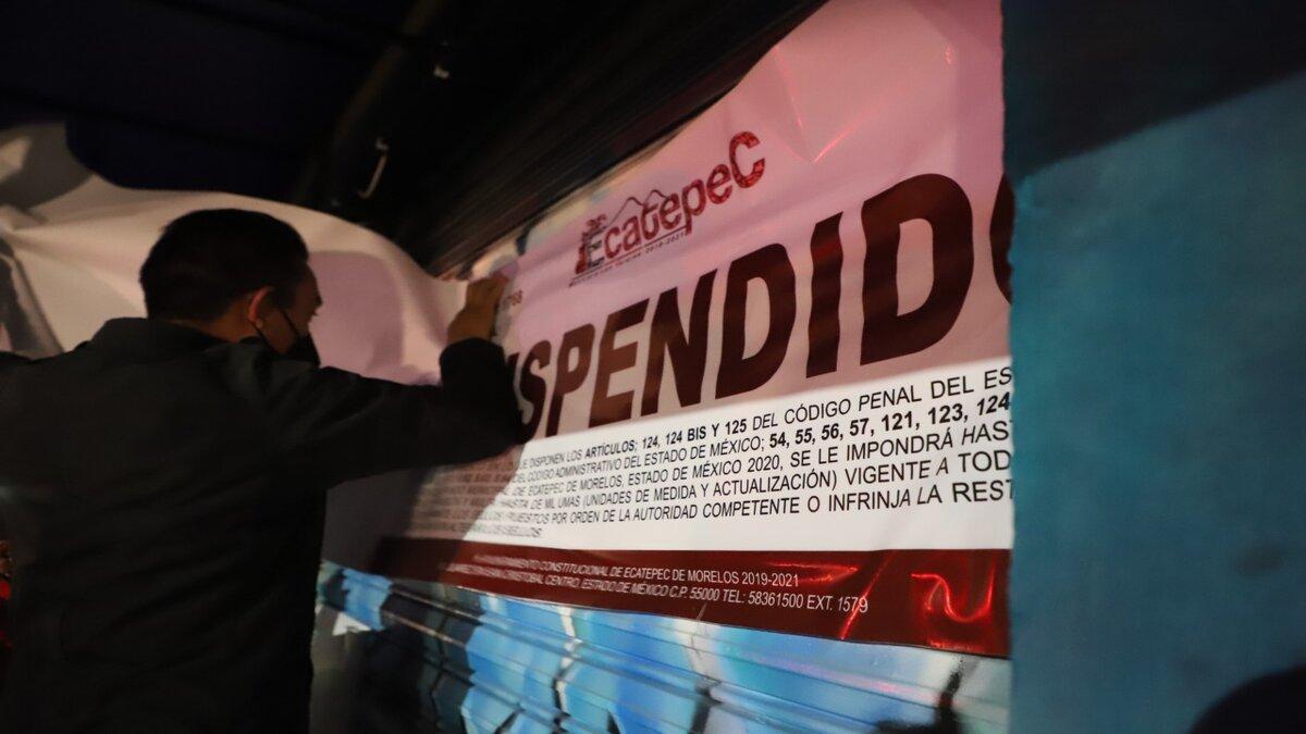 Gobierno de Ecatepec suspende tienda de autoservicio y cancela una fiesta por violar medidas sanitarias anti Covid-19