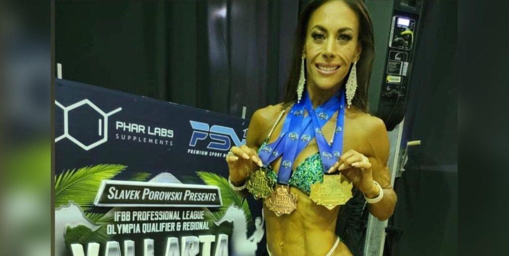 La actriz Vanessa Guzmán presume que ganó 3 medallas en concurso de fisicoculturismo