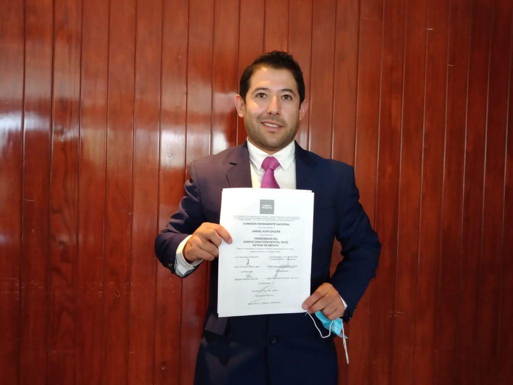 Daniel Kuri Galván es nuevo titular estatal de Fuerza por México