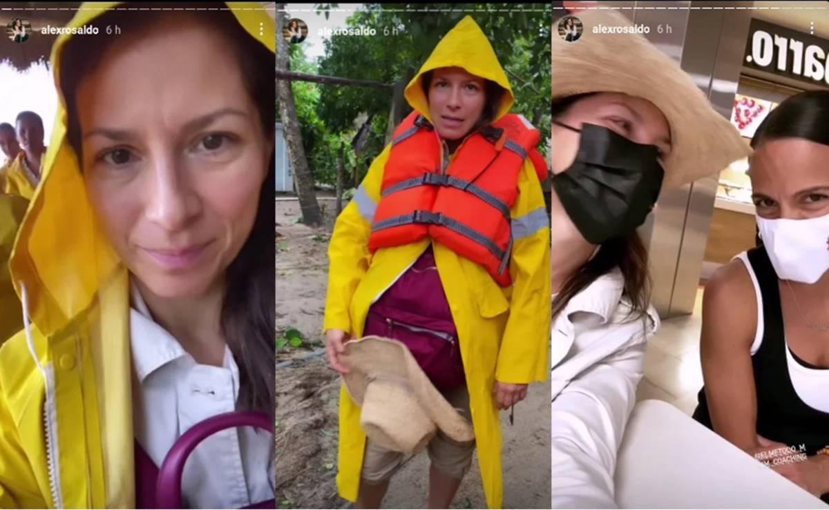"""""""Tierra a la vista""""Dijo Alessandra Rosaldo tras escapar del huracán Nora en Puerto Vallarta"""