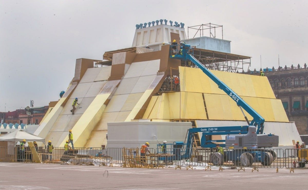 Maqueta monumental del Huey Teocalli llegará al Zócalo