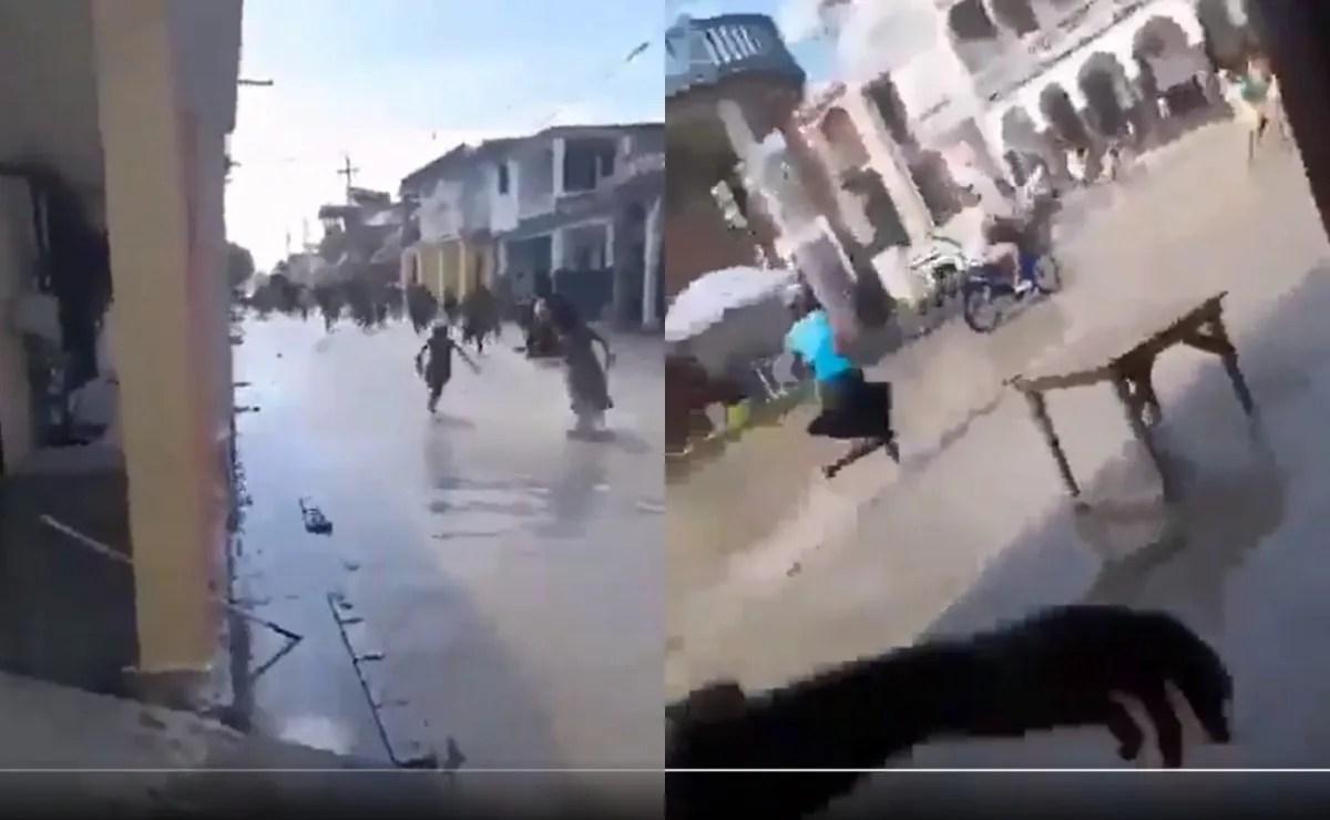 #VIDEO Terremoto de 7.2 provoca que el agua comience a salirse en Haití