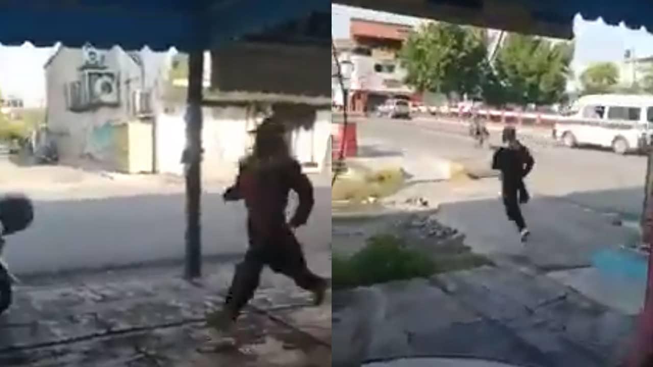 #Video Hombre se roba traje de José María Morelos; huyó con él puesto