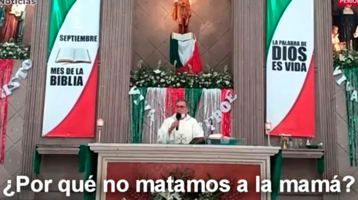 """#Viral """"Una mujer que aborta ya no sirve para nada"""",  argumenta sacerdote en Coahuila"""