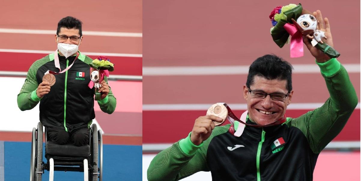 Juan Pablo Cervantes gana bronce en Juegos Paralimpicos 2020
