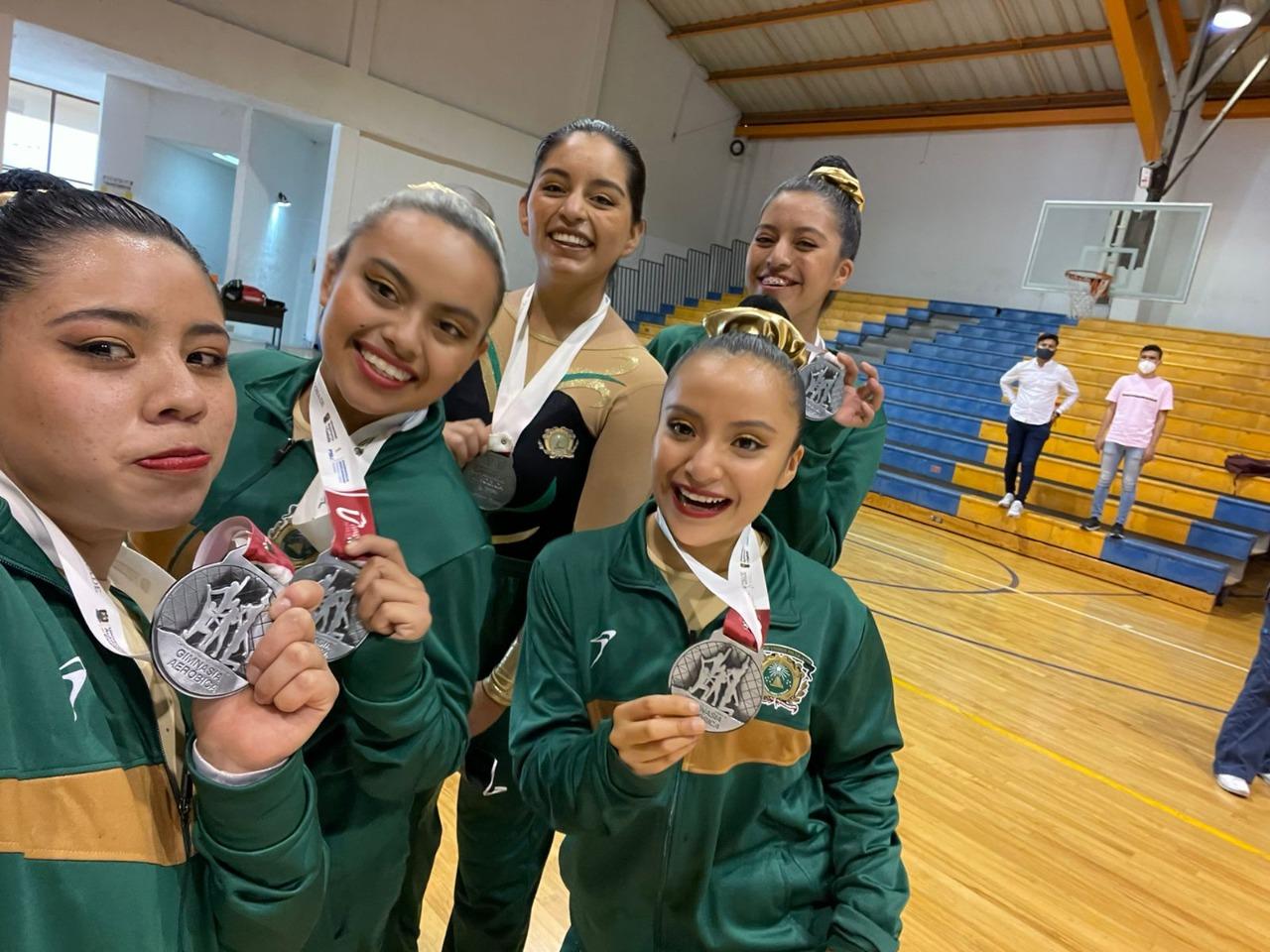 Conquistan deportistas de la UAEM plata y bronce en Campeonato Nacional de Gimnasia