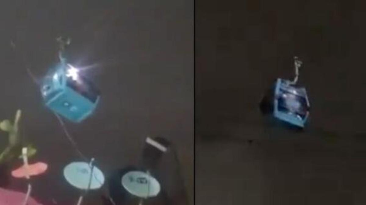 #VIDEO ¡Les agarró el temblor en el Cablebús de Iztapalapa causando pánico entre los usuarios!