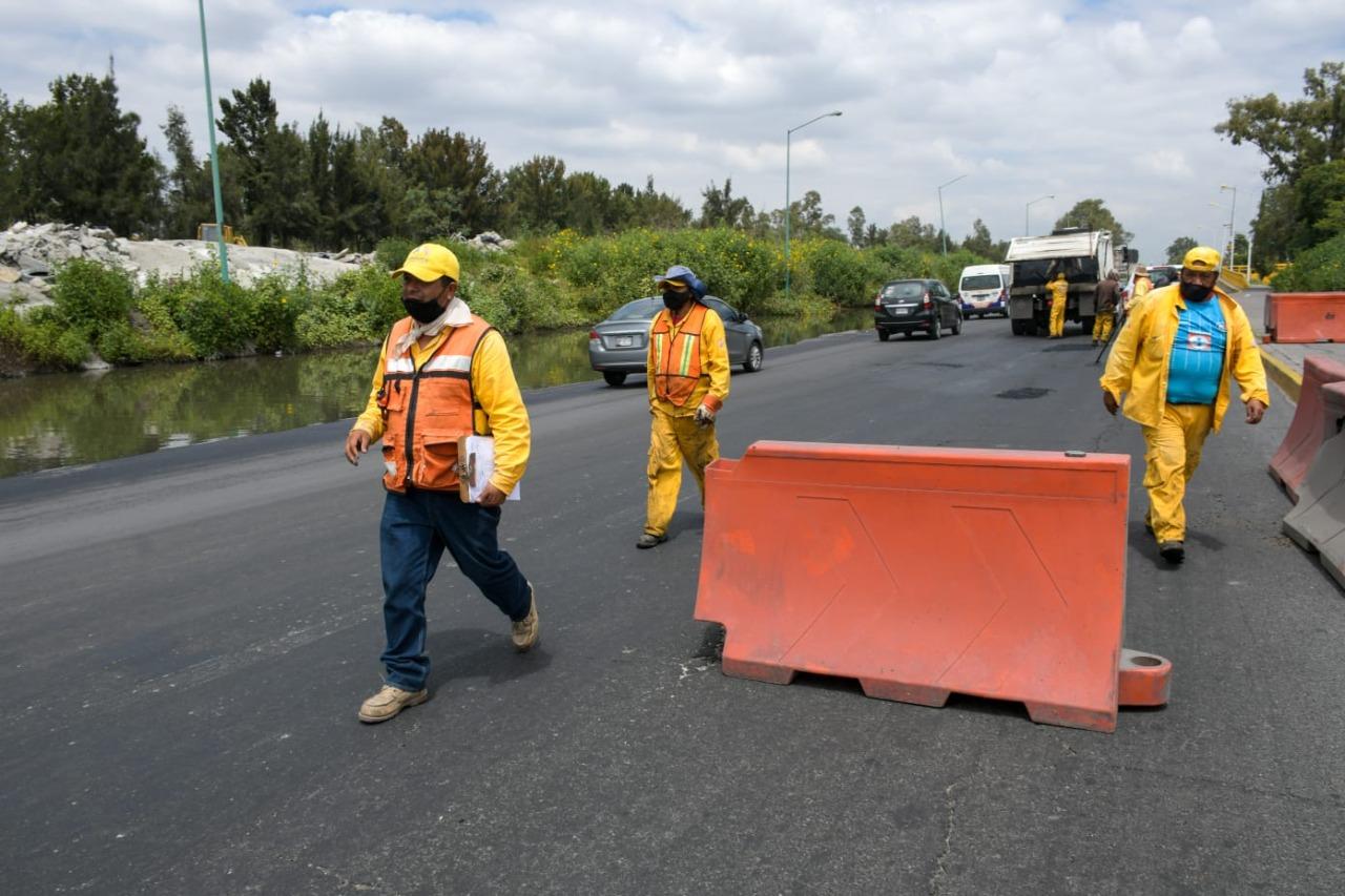Cierran puente 2 del periférico oriente por daños generados por sismo del 7 de Septiembre