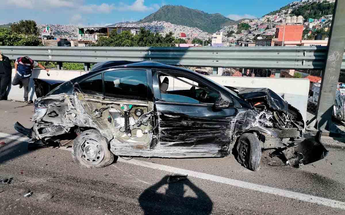 Nueva Carambola en la México-Pachuca deja 14 heridos