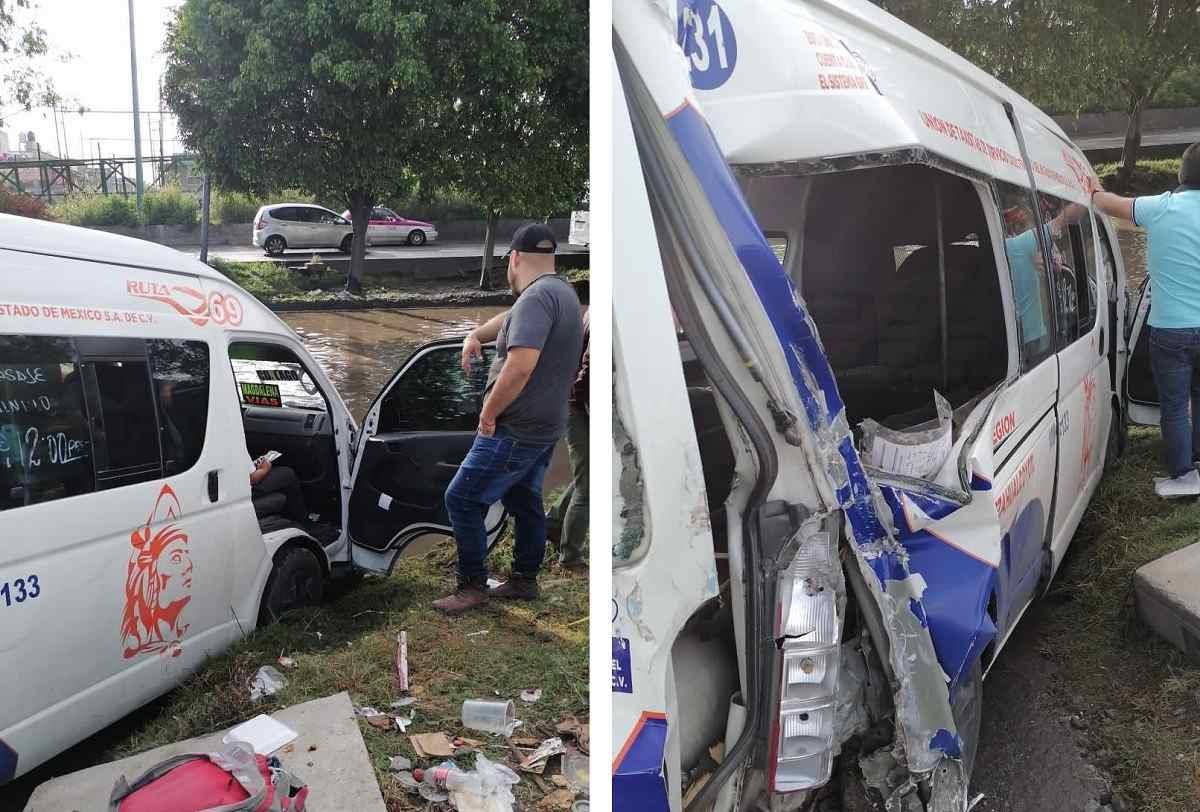 Impacta tren a una combi en Ecatepec dejando un saldo de 4 heridos
