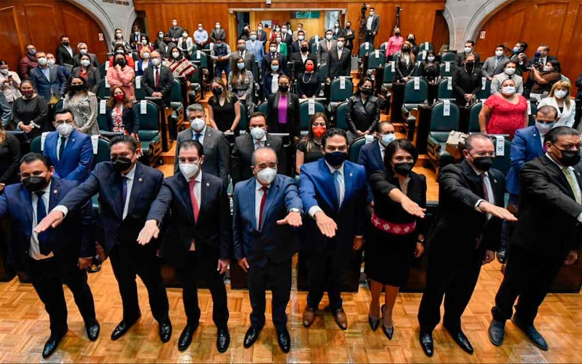 Toma protesta Junta de Coordinación Política de LXI Legislatura del Edomex
