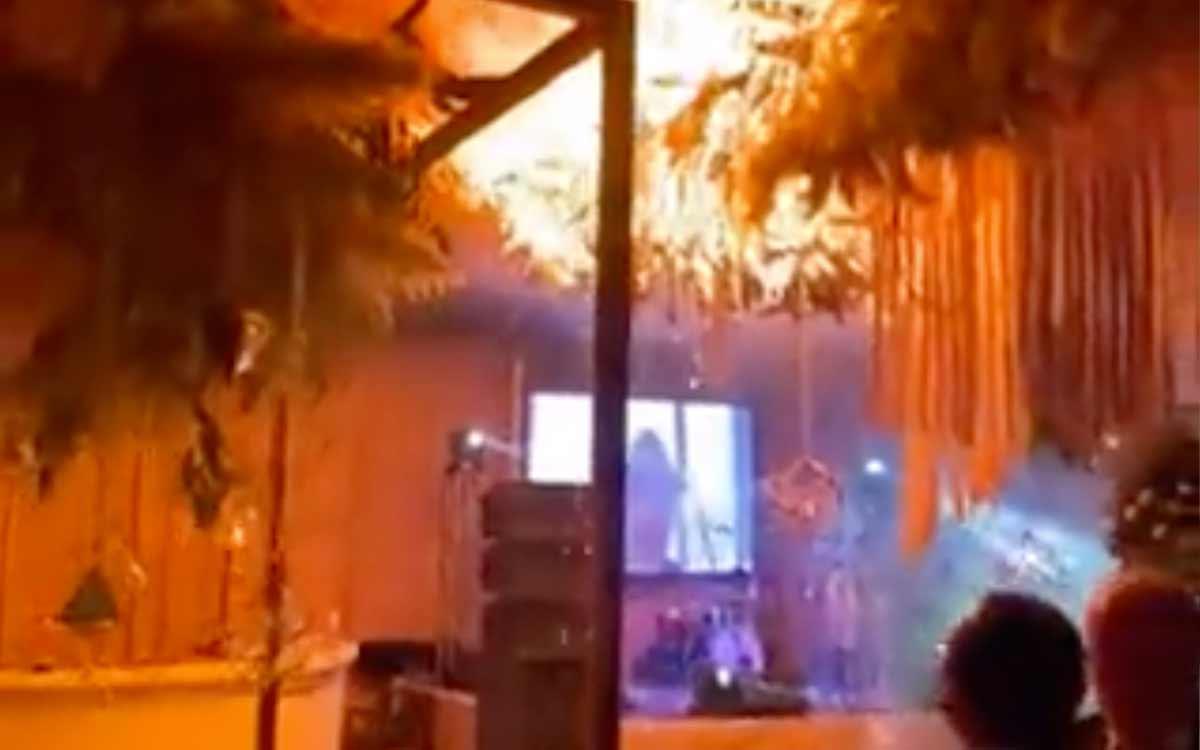 #VIDEO Boda termina en incendio en Torreón