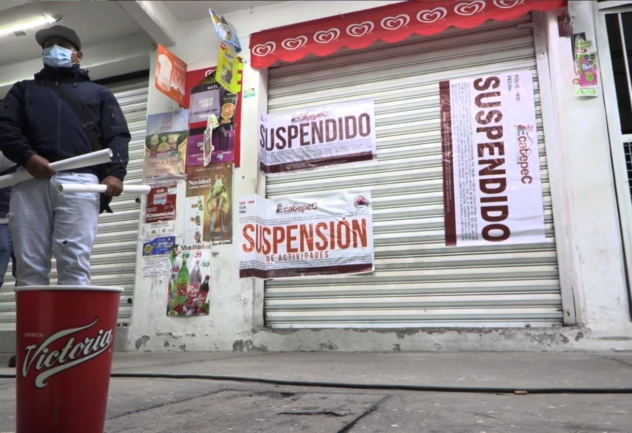 Ecatepec suspende nueve negocios con venta de alcohol y cancela  una fiesta con música viva para evitar contagios de Covid-19