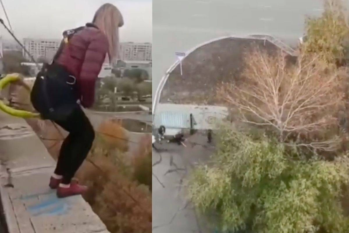 Mujer salta de bungee en Kazajistán y pierde la vida tras impactar contra el concreto