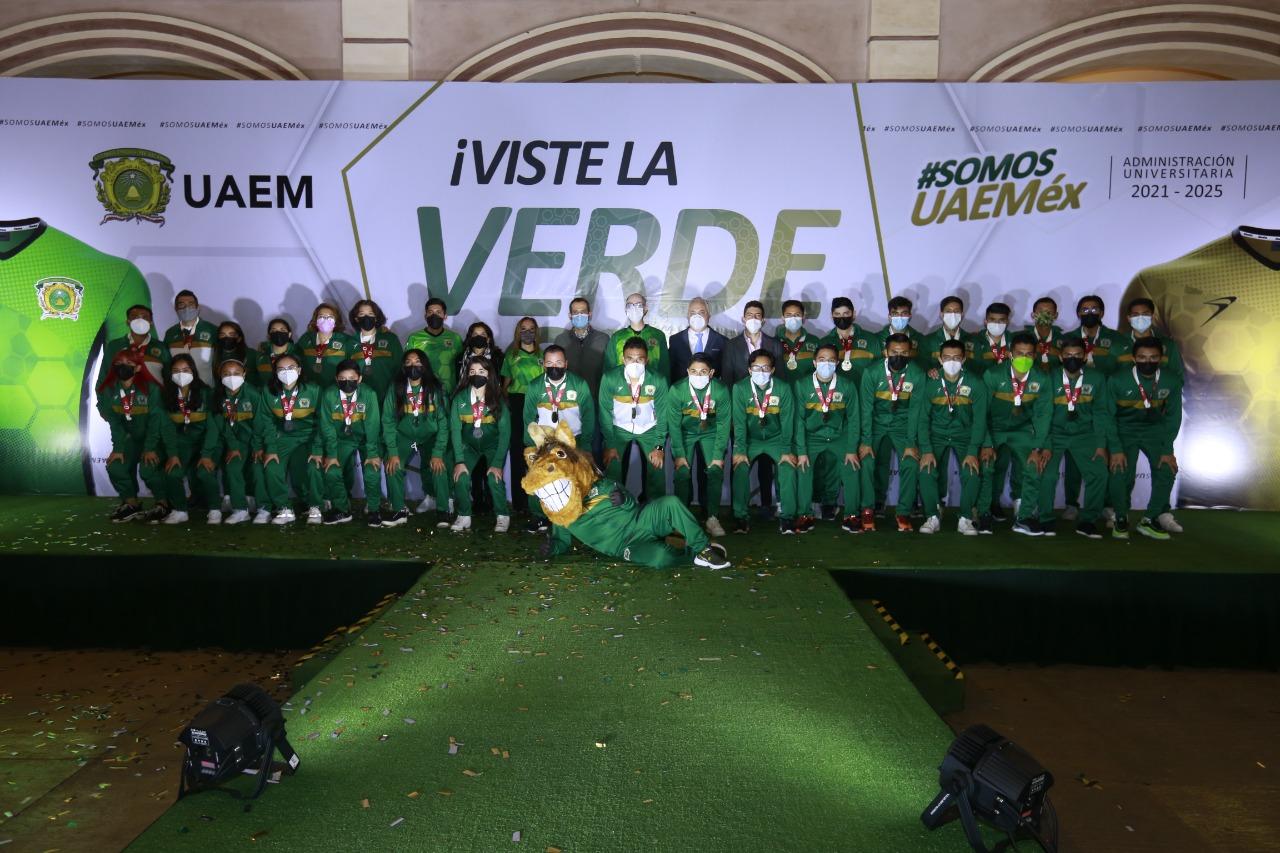 Nueva piel de los equipos deportivos de la UAEM refleja esfuerzo, tenacidad y gloria de la comunidad verde y oro