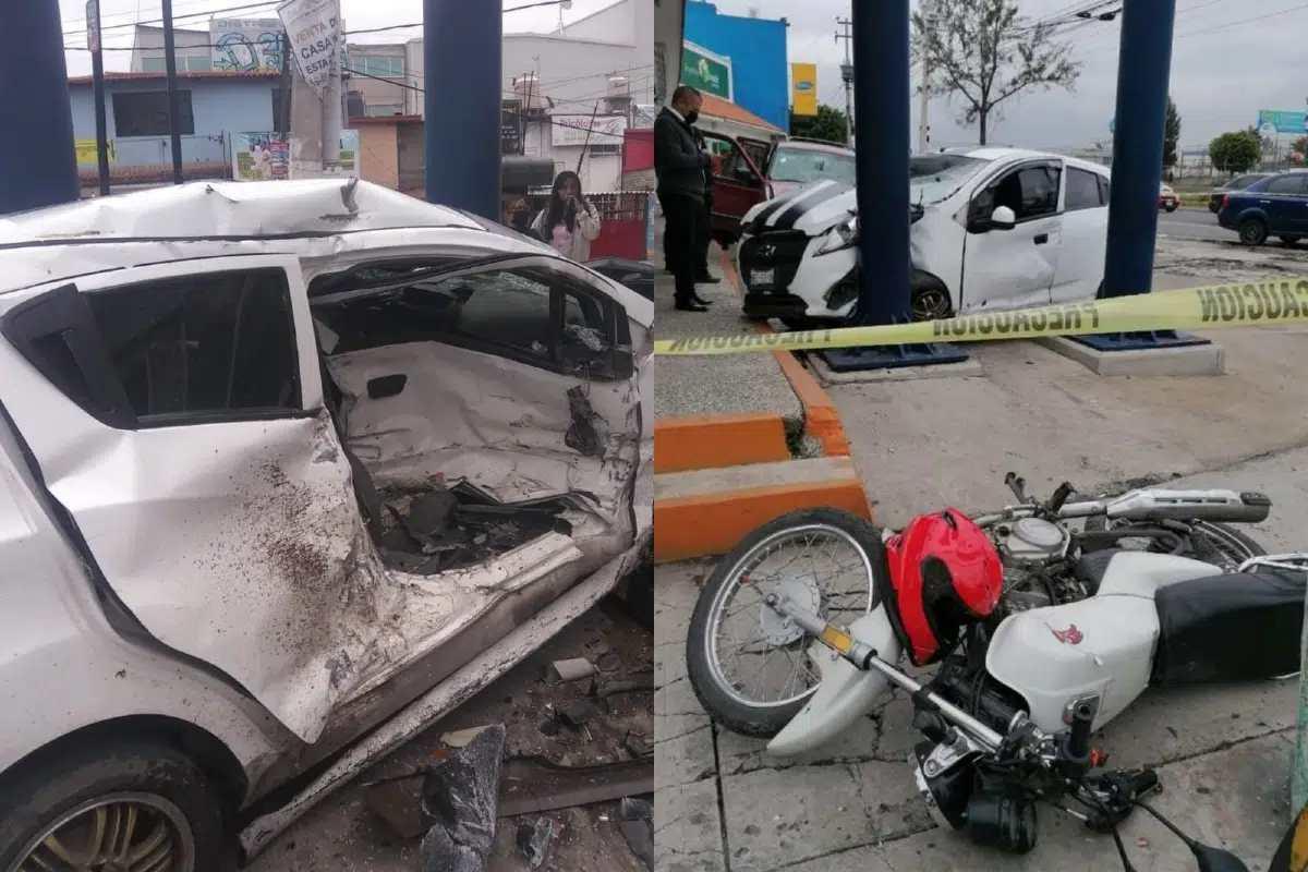#VIDEO Choque en Edomex deja un motociclista fallecido y 4 heridos