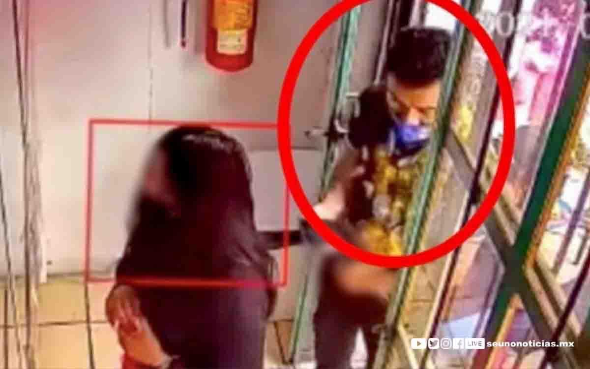 #Video captó el asqueroso acto de un hombre contra una joven en el Edoméx