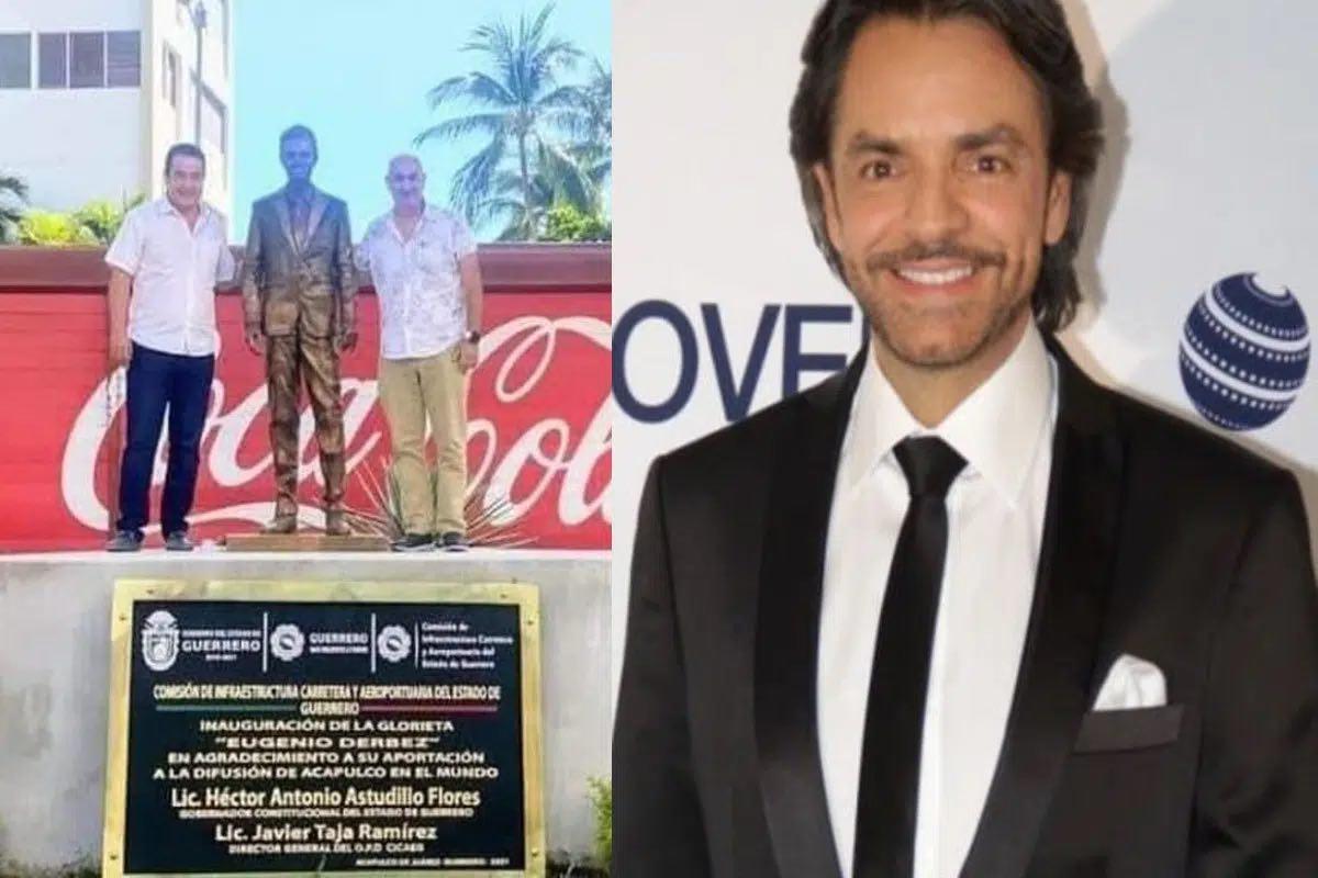 Critican en redes la estatua de Eugenio Derbez en Acapulco