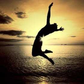 se un triunfador, éxito, motivación, perdedor, triunfadores, paisaje, hombre en la playa, atardecer