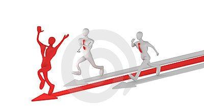 competidores, competencia, negocios, un paso adelante