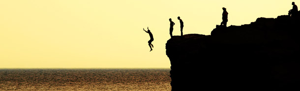 zona de confort, saltar, playa, adrenalina
