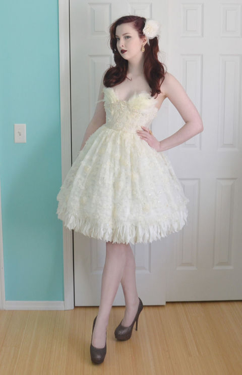 """OK, so Angela's dress isn't actually a prom dress. But the teen seamstress made the stunning gown for a formal. """"Unfortunately I didn't go to prom, and at that point in time, when I was attending formal dances, I didn't know how to sew,"""" she told Seventeen.com. Clearly, things have changed!"""
