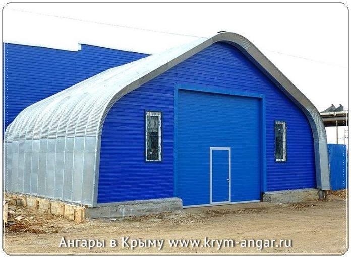 Строительство ангары в Крыму