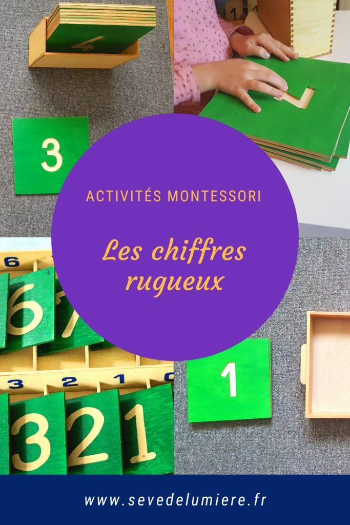 Matériel Montessori, les chiffres rugueux. Tout ce qu'il faut savoir sur ce matériel. #matérielmontessori #mathématiquesmontessori