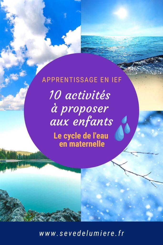 10 activités autour du cycle de l'eau pour les enfants #IEF #instructionenfamille
