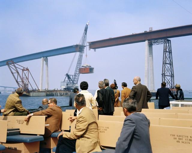 Торжественная установка последней секции моста Коронадо - Сан-Диего